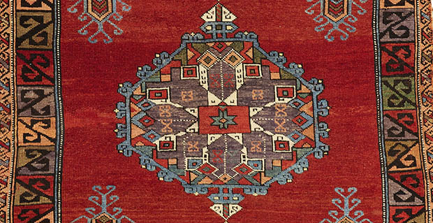 92J6G, Anatolian rug, 196 by 128cmcrop