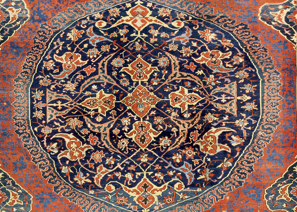 Lot95, an exceptional early 16th-century Ushak Medallion Carpet West Anatolia. Sold for: £181,250 ($253,210)