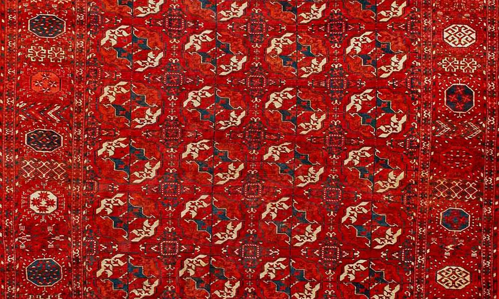 Turkmen tekke main rug, 19th century, Gallery Aydin