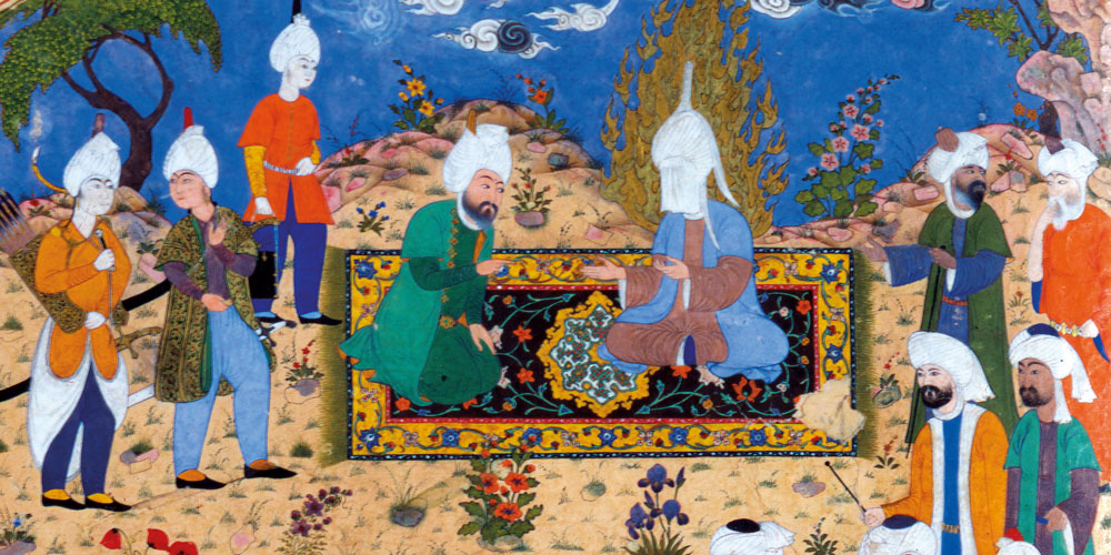 Tabriz miniture painting, 1530, Chapter 2 - The Carpet Design Revolution, The Persian Carpet Tradition, P.R.J. Ford