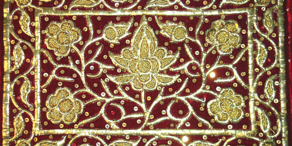 Detail of Malay Gold Thread Embroidery