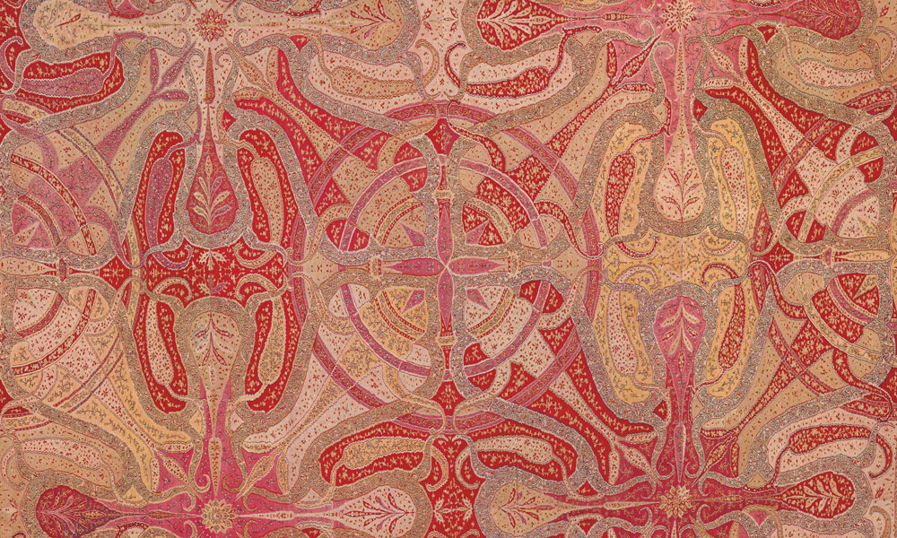 Detail of Mandala Chandar, India (Kashmir), circa 1840, (1.85 x 1.98 m).