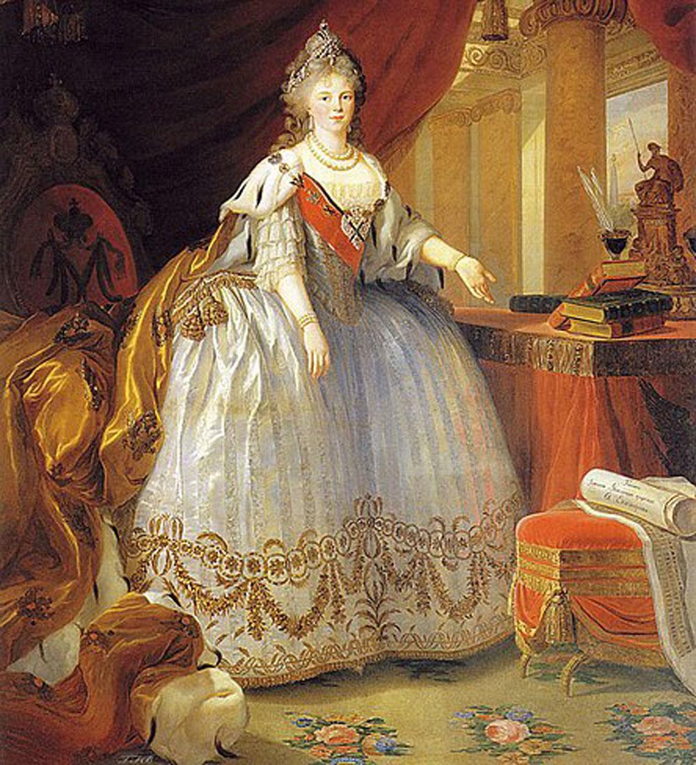 Detail of Maria Feodorovna by Elisabeth Vigée le Brun