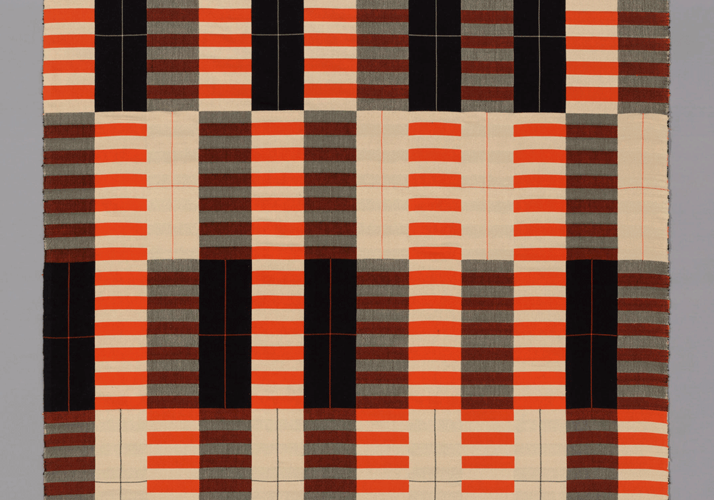 Black-White-Red (detail), Anni Albers, 1926/27, produced 1965. Art Institute of Chicago, Restricted gift of Mrs. Julian Armstrong, Jr.