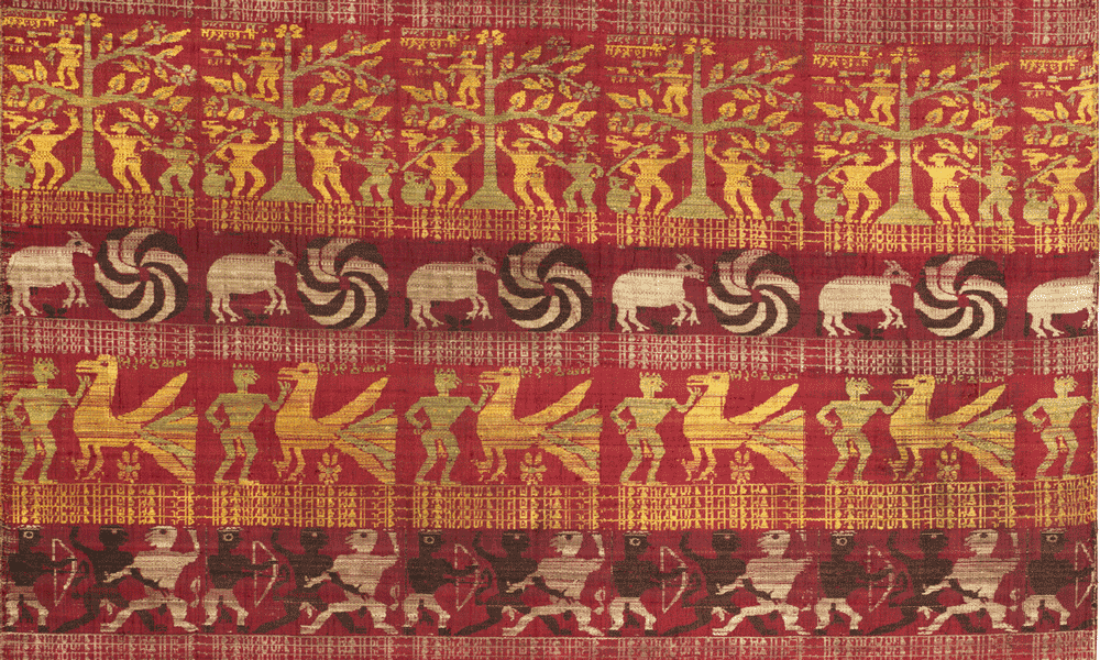 Vaishnavite ritual textile depicting scenes from the Bhagavata Purana Assam, late 17th - early 18th century (2.21 x 0.82 m)
