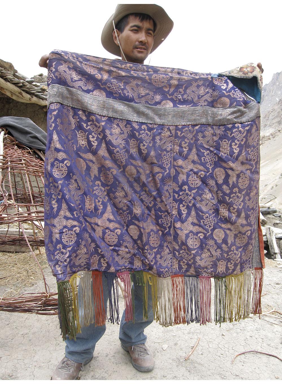 Modern silk brocade bog, Indus Valley, central Ladakh