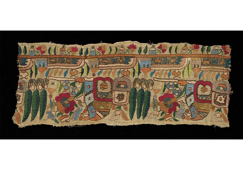 Embroidered border fragment © Leeds University Library, University of Leeds