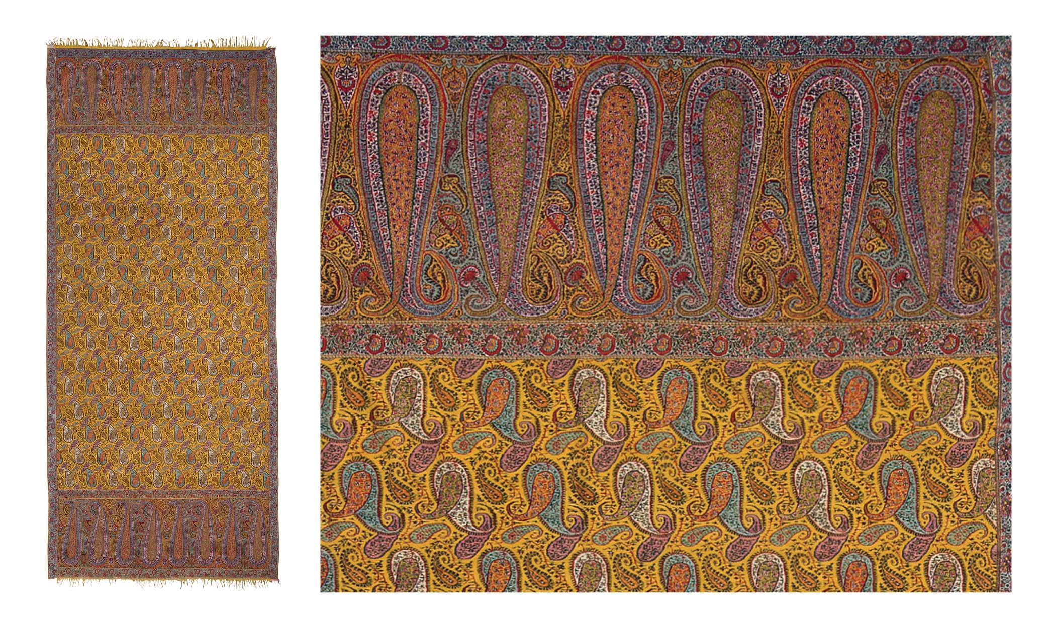 Lot 42: A LONG SHAWL (DOCHALLA). NORTH INDIA, 1830-1835. Estimate: GBP 5,000 - GBP 7,000. Price Realised: GBP 16,250