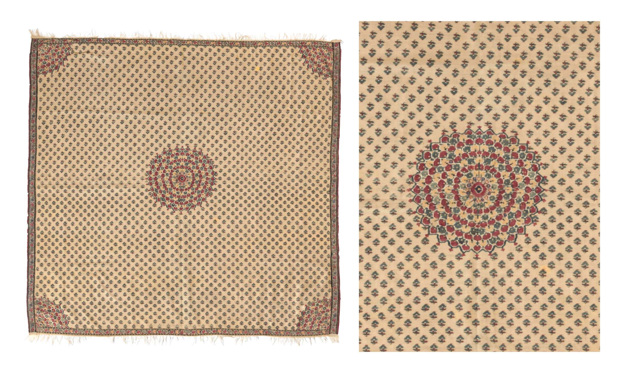 Lot 31: MOON SHAWL (CHANDAR). NORTH INDIA, LATE 18TH CENTURY.