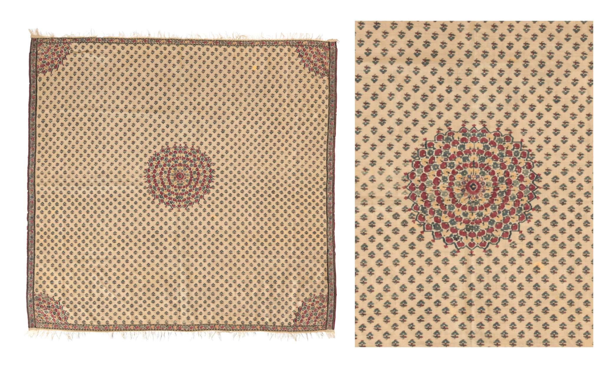 Lot 31: MOON SHAWL (CHANDAR). NORTH INDIA, LATE 18TH CENTURY.