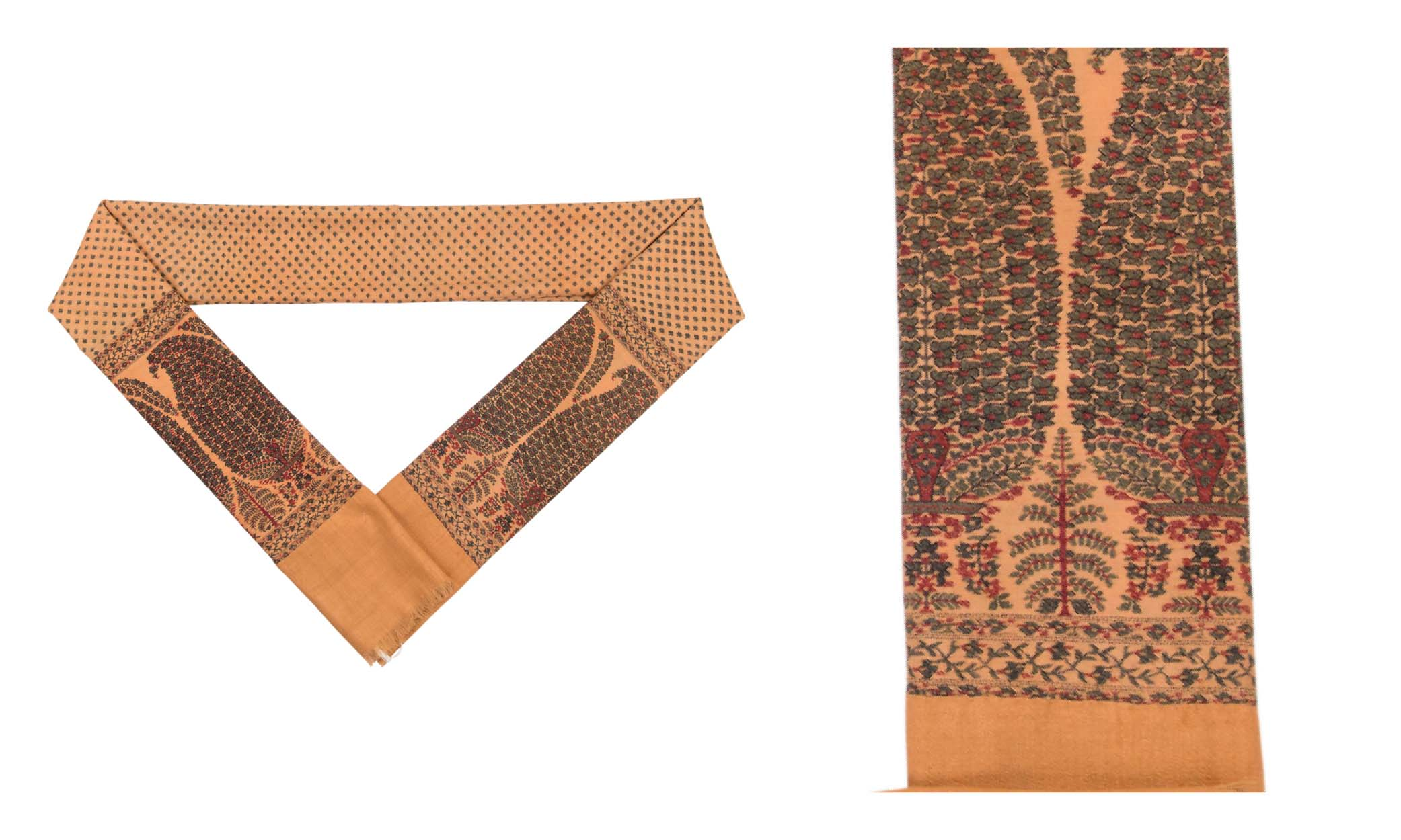 Lot 68: A LONG SHAWL FRAGMENT (DOCHALLA). NORTH INDIA, CIRCA 1810. Estimate: GBP 3,000 - GBP 4,000. Price Realised: GBP 3,750