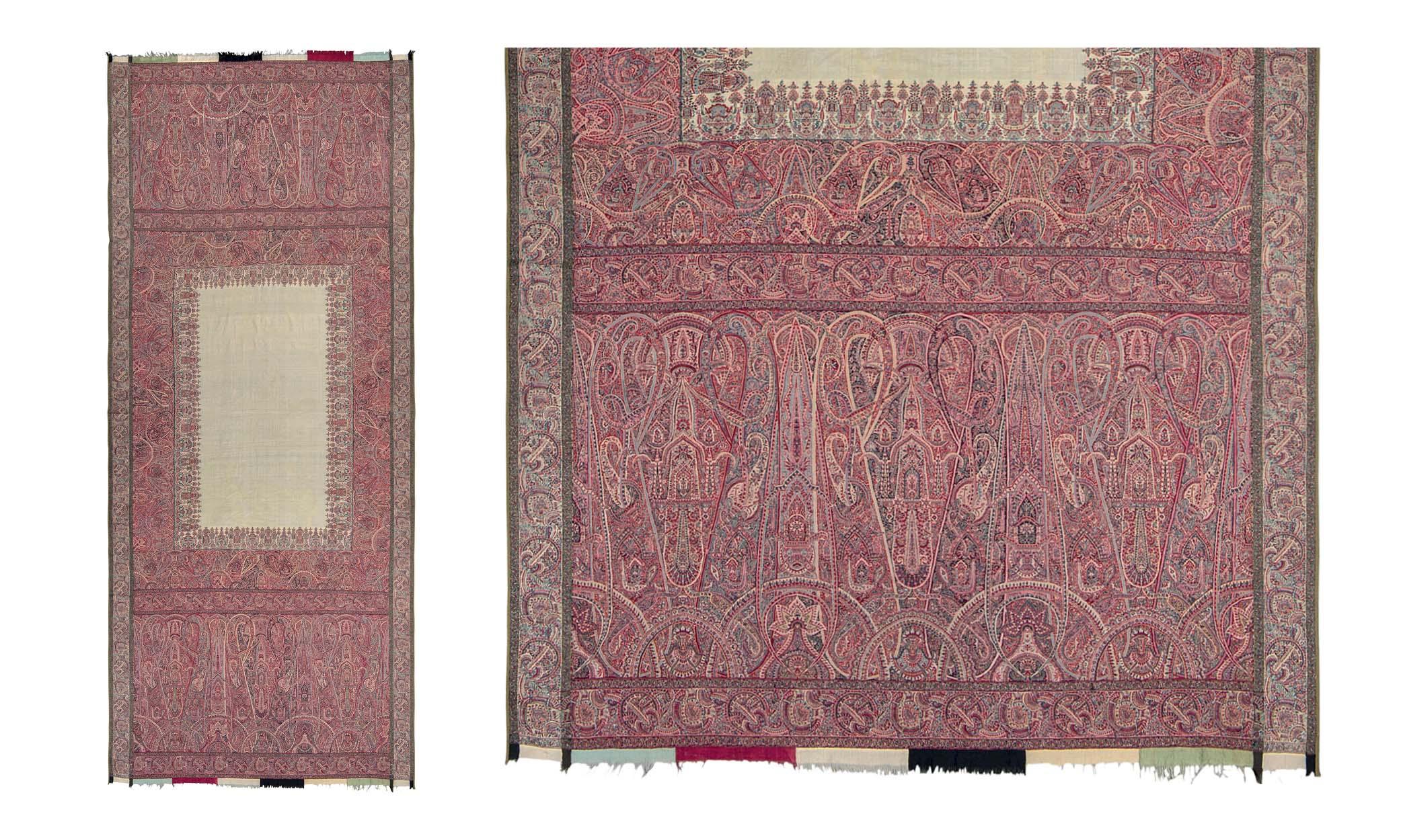 Lot 2: LONG SHAWL (DOCHALLA). NORTH INDIA, CIRCA 1840.
