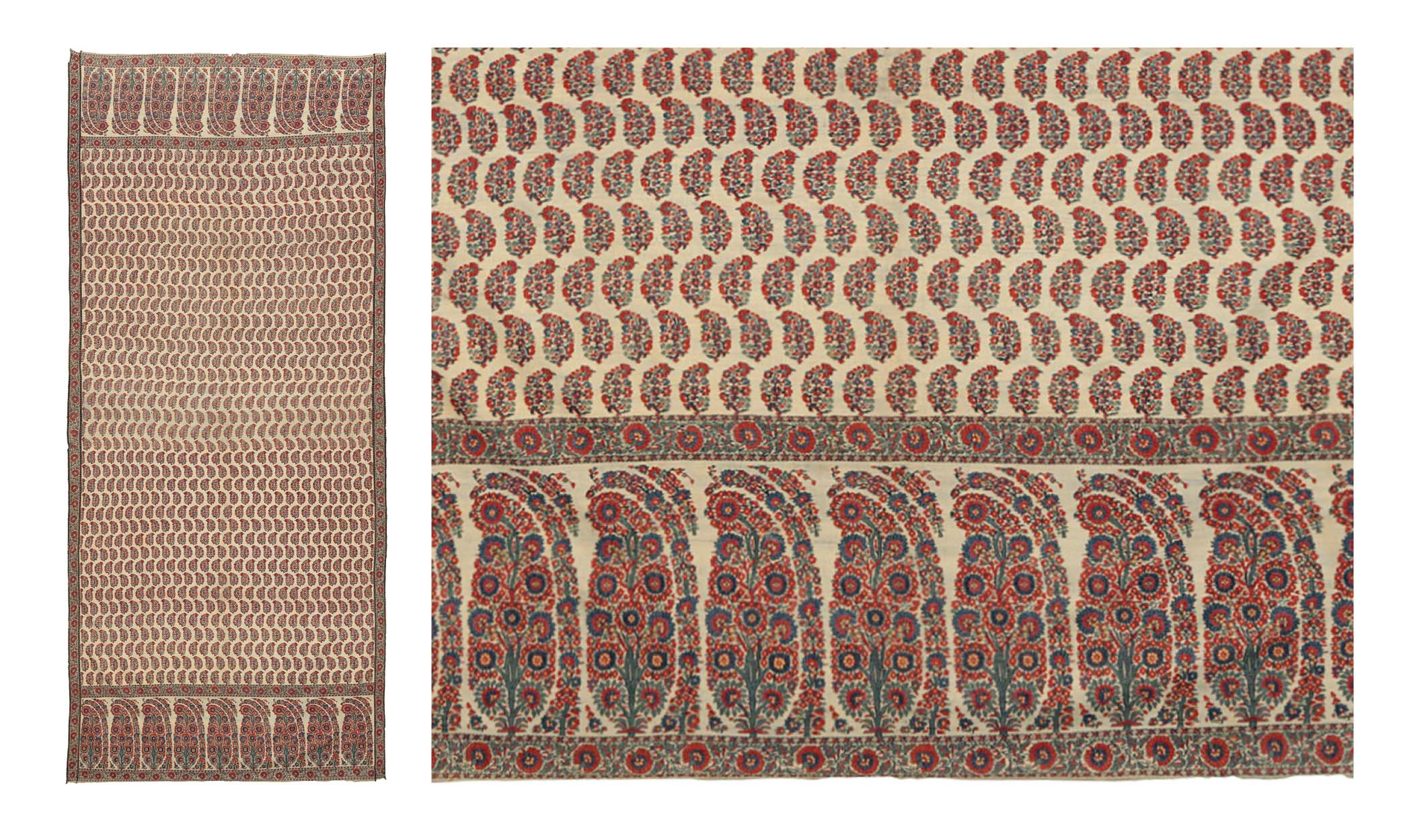 Lot 3: A LONG SHAWL OR GOWN PIECE (JAMAWAR). NORTH INDIA, CIRCA 1815. Estimate: GBP 6,000 - GBP 8,000. Price Realised: GBP 22,500