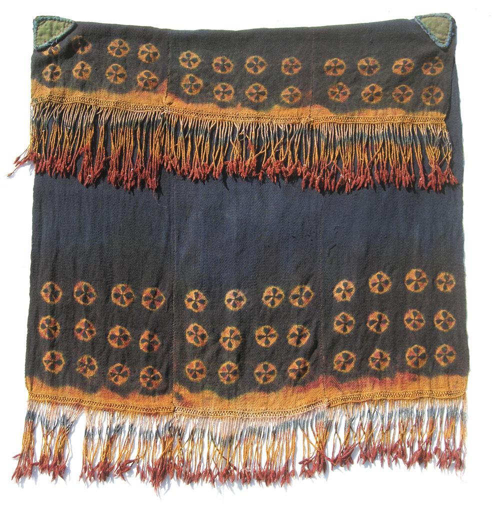 A rare five-row tigma Zanskari liktse cape, snambu wool twill