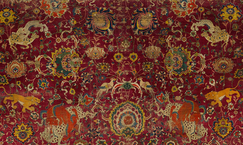 The Emperor's Carpet (detail), Persia, second half 16th century. The Met, Rogers Fund, 1943, 43.121.1