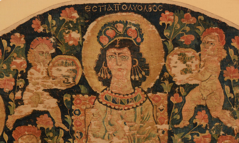 Hanging with Hestia Polyolbus (detail), Egypt, ca. 6th century. Dumbarton Oaks Research Library and Collection, BZ.1929.1