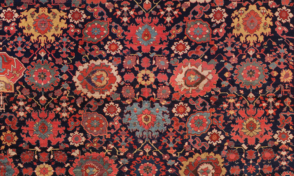 """North-west Persian harshang carpet (detail), 18th century. 2.77 x 7.09 m (9' 1"""" x 23' 3"""")"""