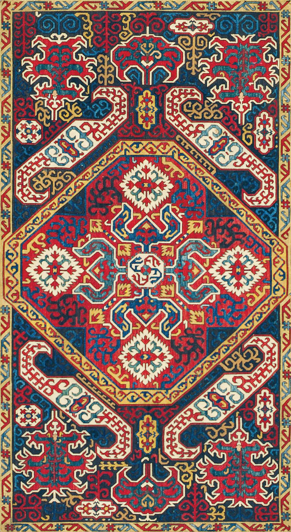 "4 West Anatolian medallion rug, before 1800. 1.59 x 2.08 m (5' 3"" x 6' 10""). Metropolitan Museum of Art, New York, Gift of Joseph V. McMullan, 1973, inv.1974.149.33."
