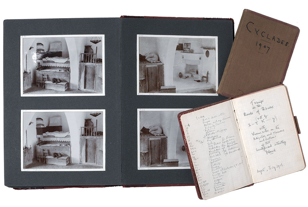 Photographs from Wace's albums, together with his 1907 Cyclades 1907 notebook. Wace Family Collection