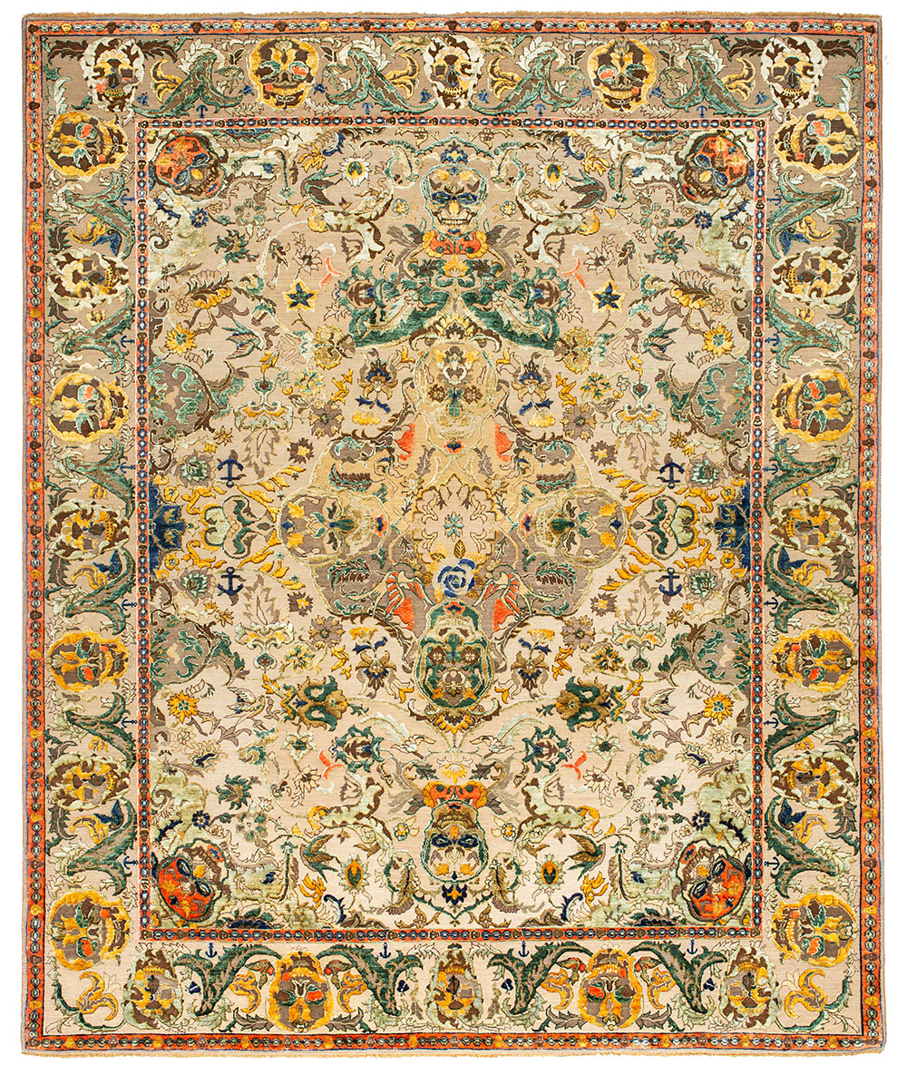 Skull One carpet, Polonaise collection, Jan Kath 3  Kotan Qianlong Sky carpet, East collection, Jan Kath