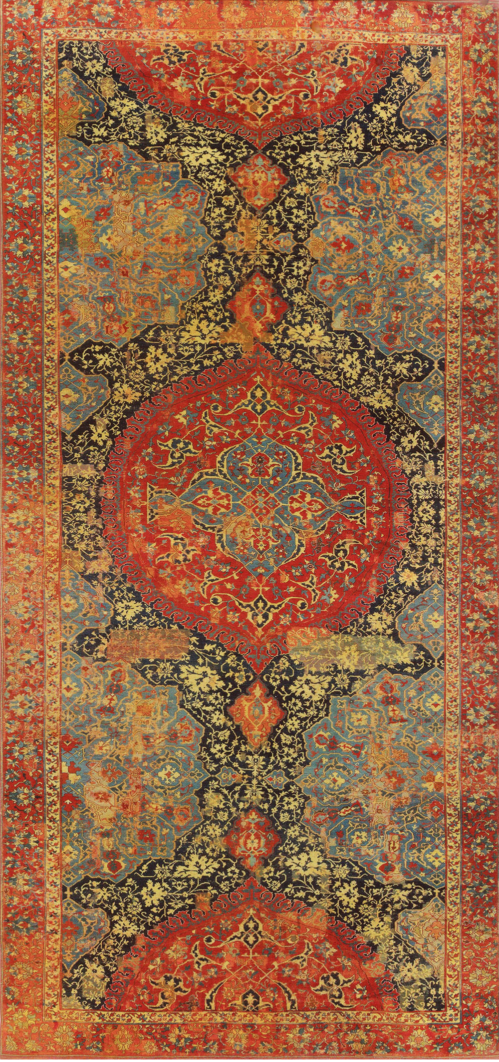 The carpet as it appeared in the 1932 Benguiat sale, unchanged when exhibited in 2006