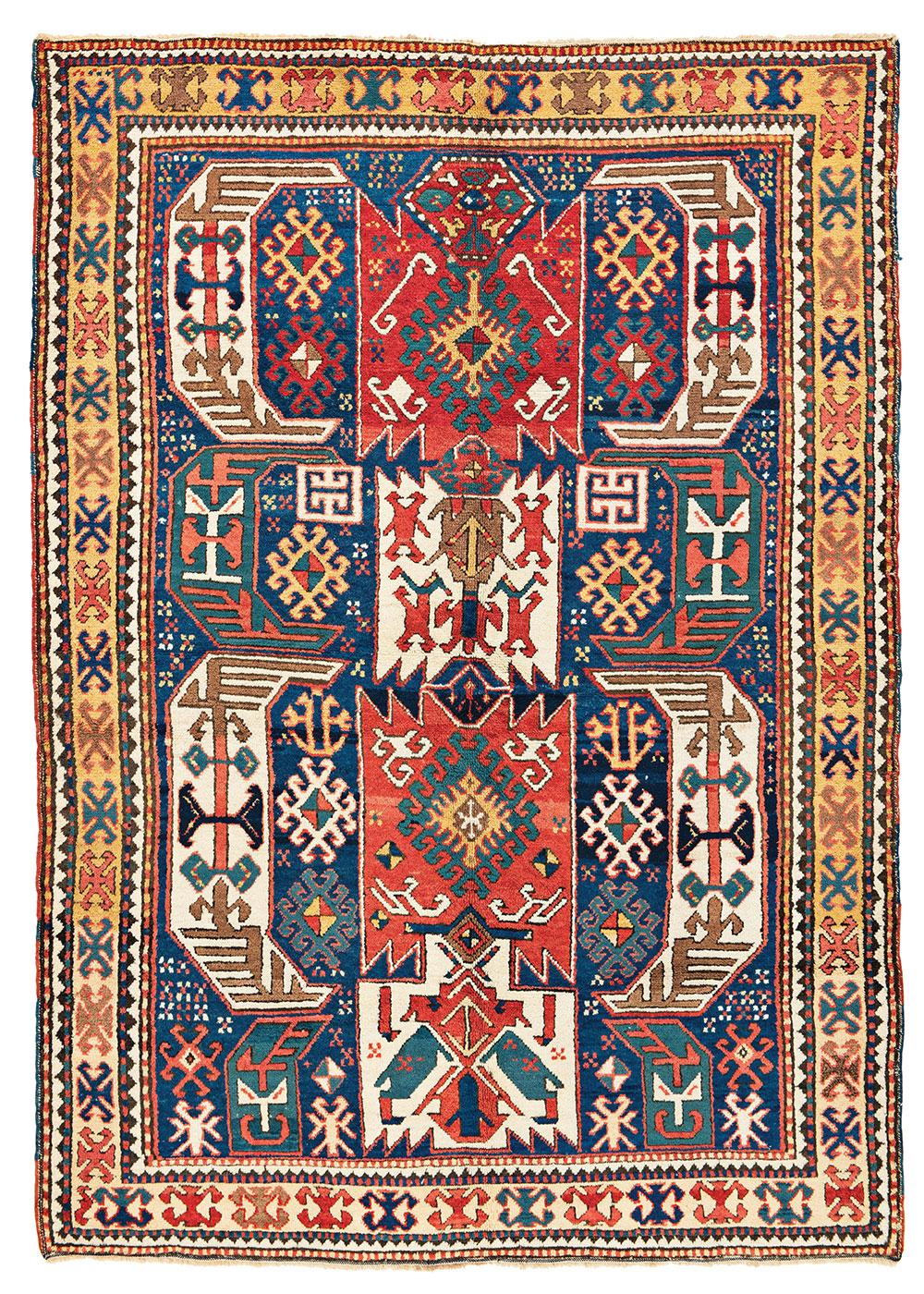 Bahmanli rug Third quarter 19th century 1.50 x 2.10 m (4' 11'' x 6' 11'') Austria Auction Company Vienna 1 August 2020, Lot 24 Est: €5,000-7,000 Sold: €20,000 ($23,550)