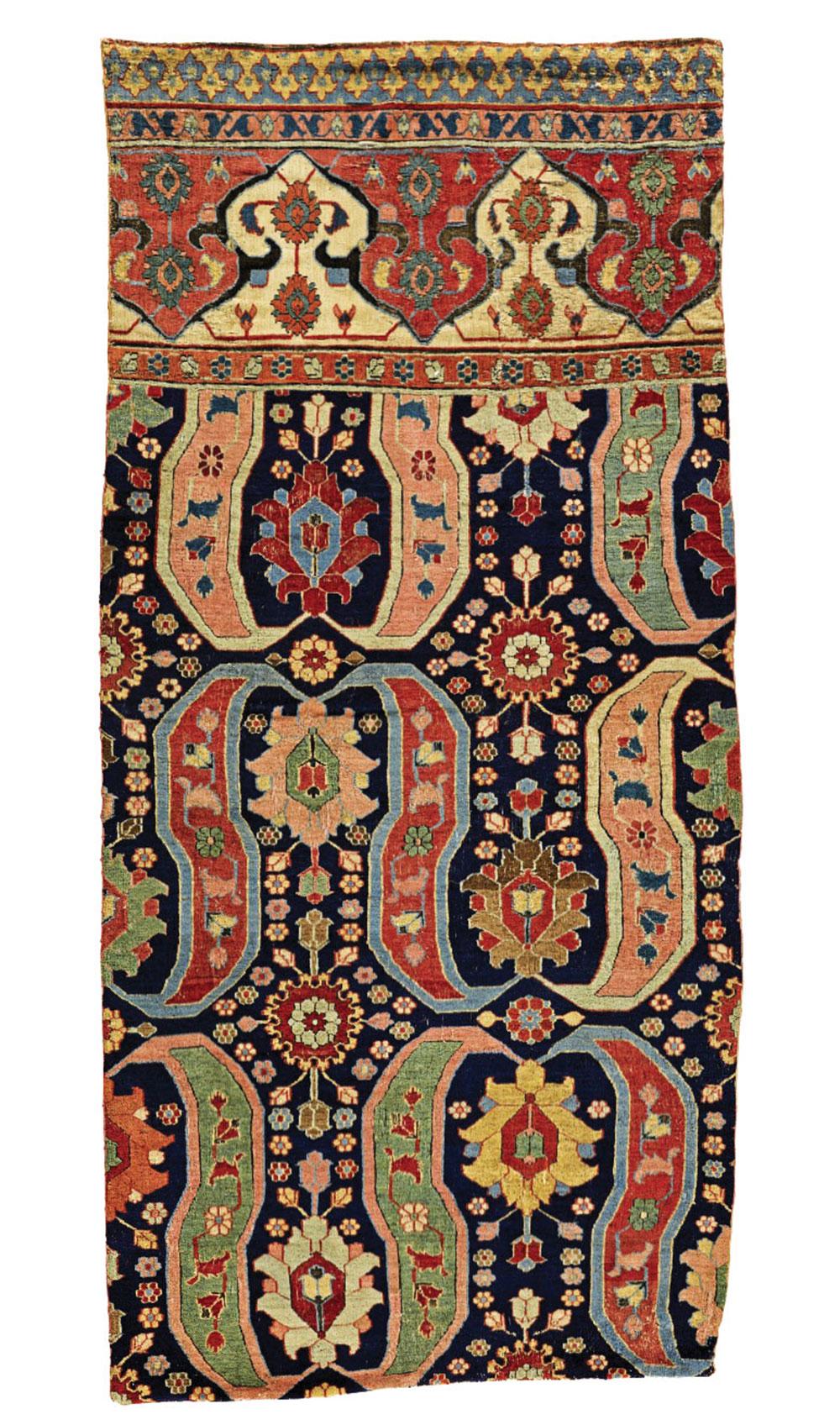 """Khorasan carpet fragment 17th century 1.12 x 2.49 m (3' 8"""" x 8' 2"""") Sotheby's London 10 June 2020, Lot 282 Est: £30,000-50,000 Sold: £35,000 ($44,650)"""
