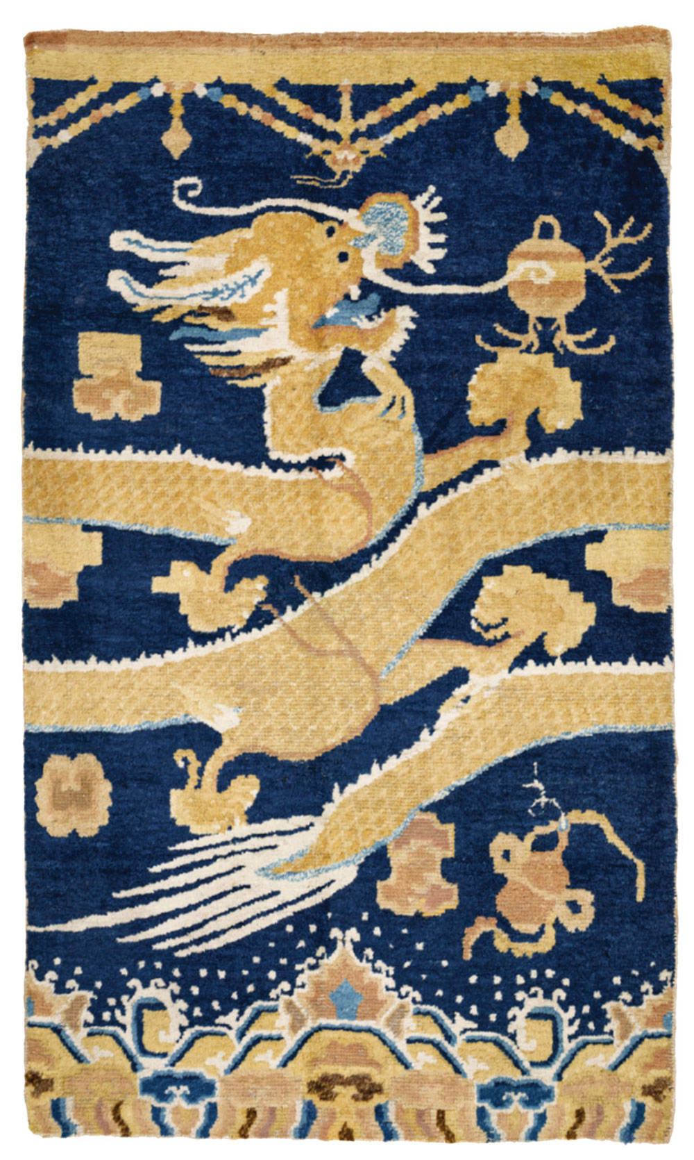 "Ningxia pillar rug Mid 19th century 0.94 x 1.57 m (3'0""x 5'2) Rippon Boswell Wiesbaden 27 June 2020, Lot 207 Est: €8,000 Sold: €12,500 ($14,025)"