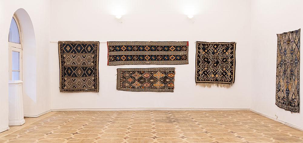 Graphic flatweave rugs, Georgian region of Tusheti, Ethnographic Museum, Tblisi