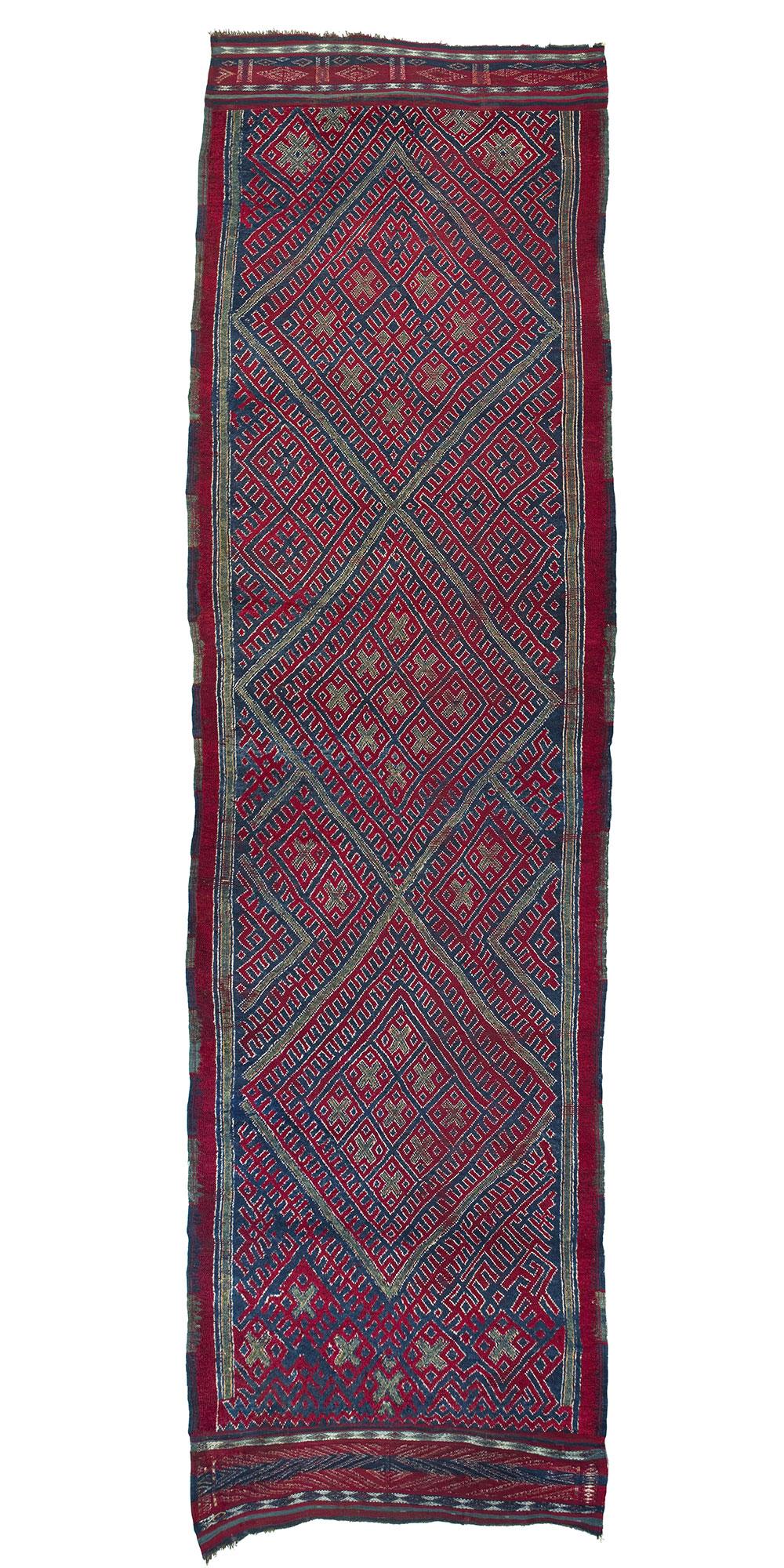 "Algerian Jebel Amour rug, 19th century or earlier. 1.65 x 5.50 m (5' 5"" x8'). In association Gebhart Blazek, Graz/Alberto Levi Gallery, Milan"