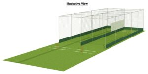 Cricket Double bay design CAD drawing