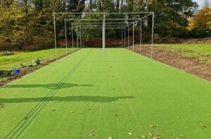 Pre netting - Completed surface works on the new Cricket Double pay training area.