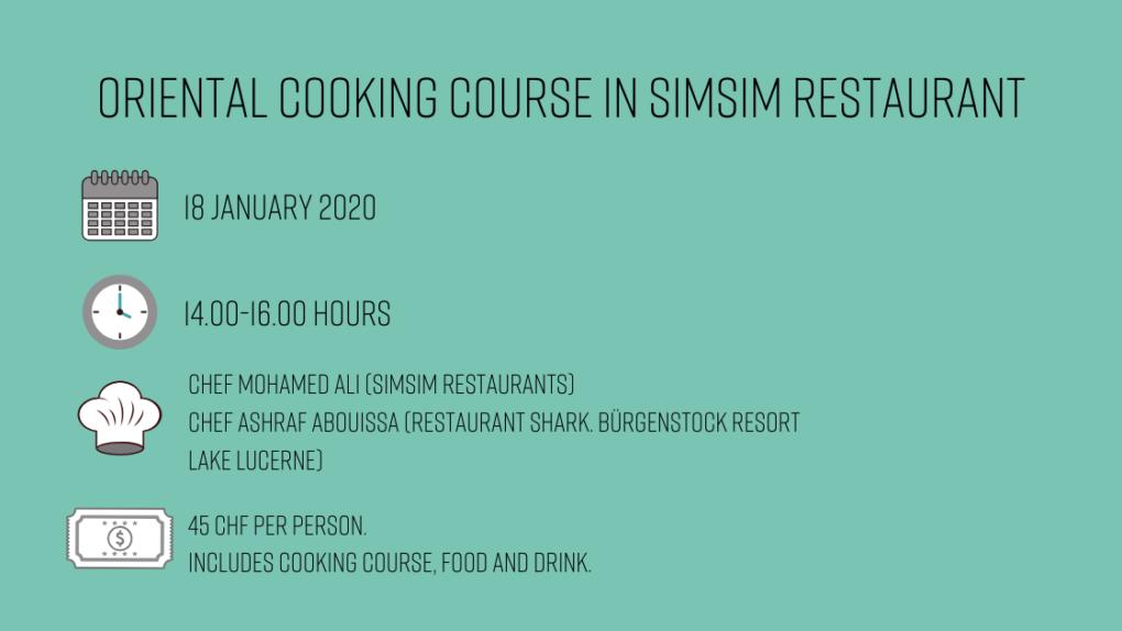 Oriental cooking course in SimSim Restaurant