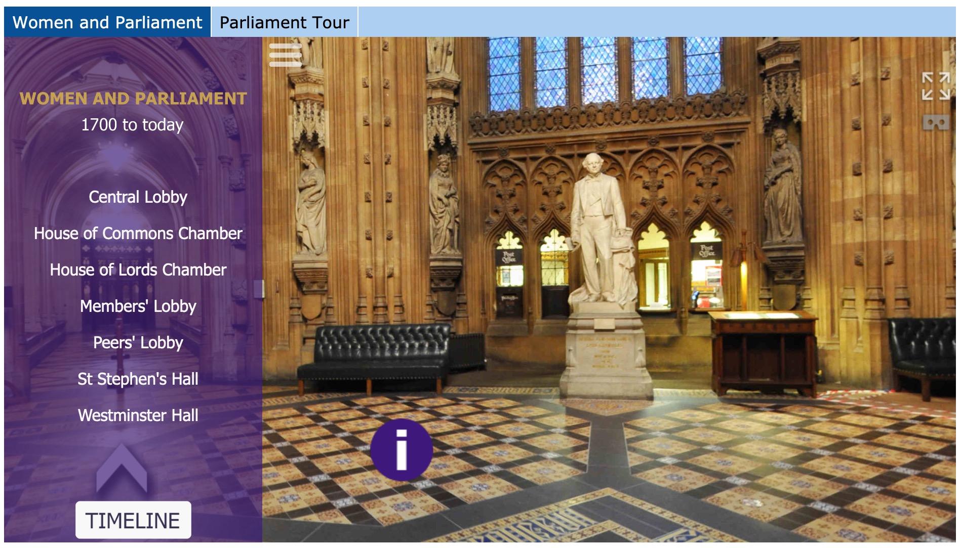 Women and Parliament Virtual Tour