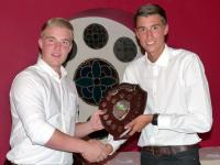 1st XI player of the year Dan Savin with Ryan Moore