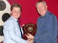 Youth player of the year George James with Mark Townsend