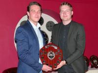 Thursday XI player of the year Olly Ward with Danny Clark