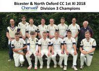 1st XI Cherwell Div 3 Champions