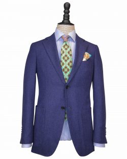 Royal Blue Plain Flannel Fabrics suit
