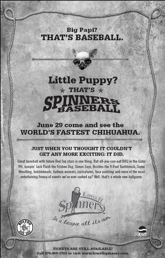 Lowell Spinners Newspaper Ads