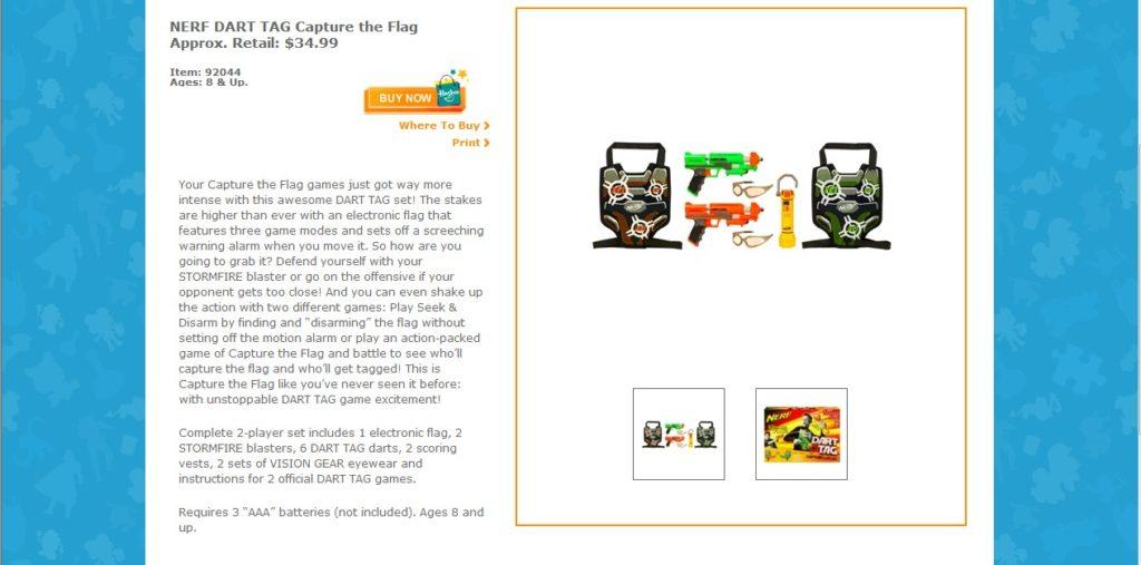 Nerf Dart Product Description