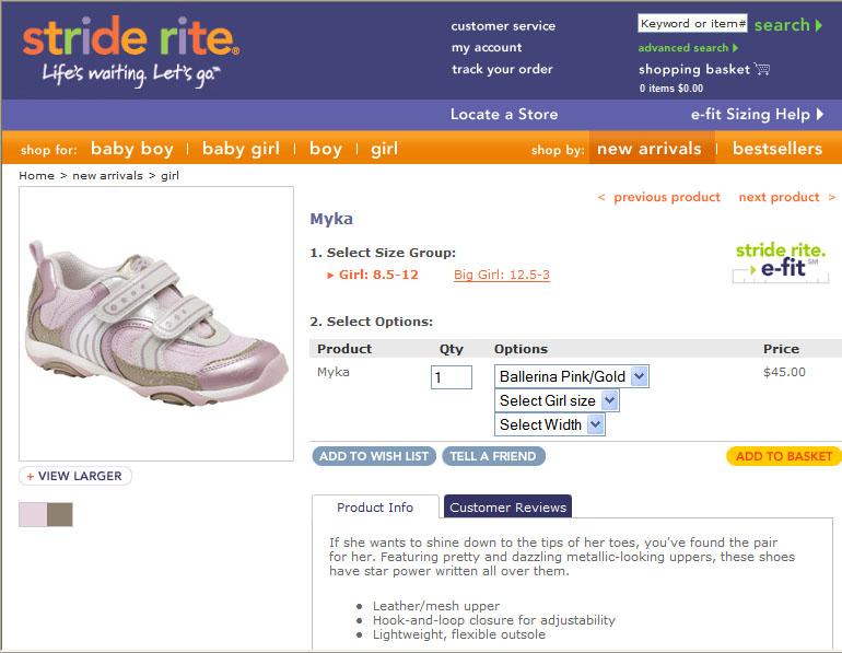 Stride Rite Product Description