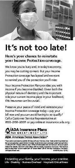 ADA Insurance Plans Notice Ad
