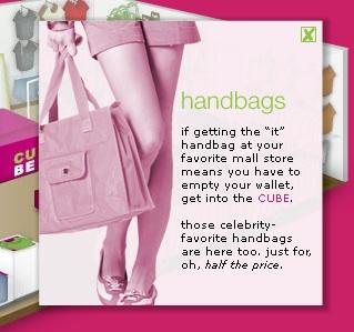 Cube Handbags Pop Up