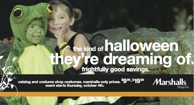 Marshalls Halloween Direct Mail