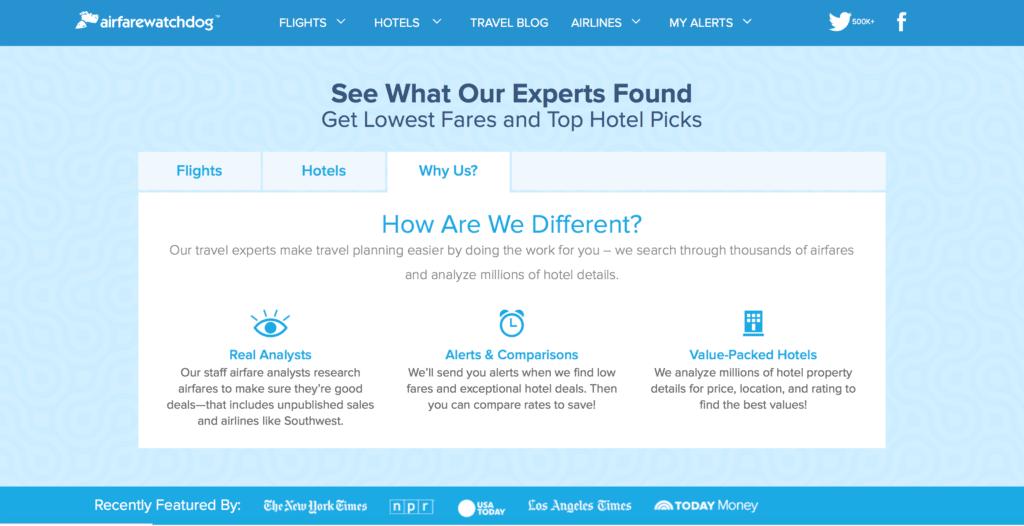 Airfare Watchdog Website