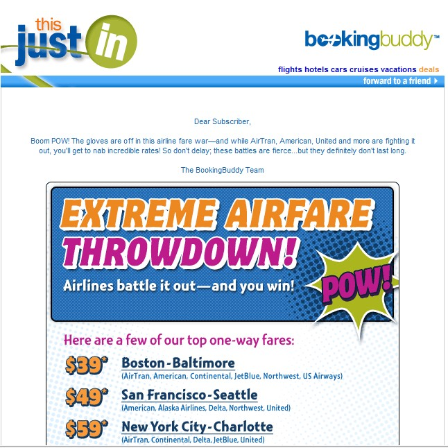 Booking Buddy Email