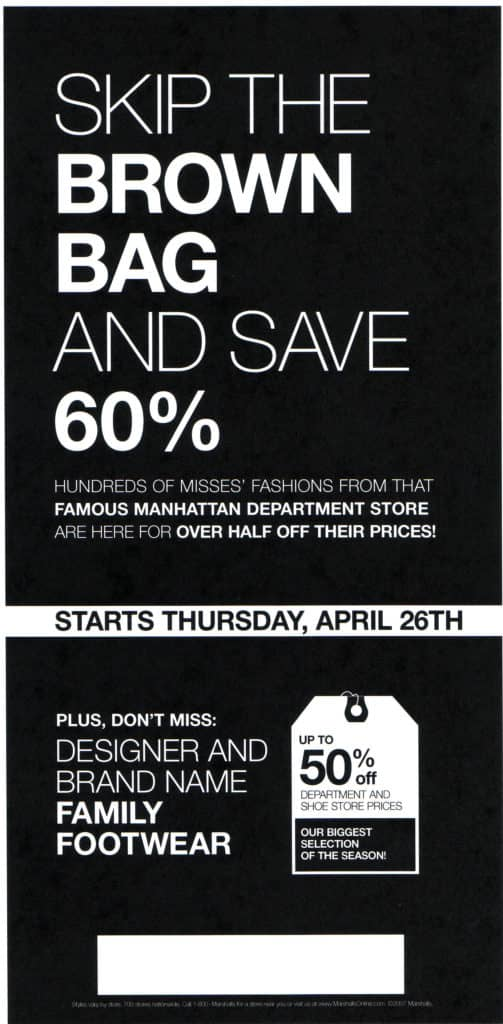 Non-Bloomingdale's Marshalls Newspaper Ads