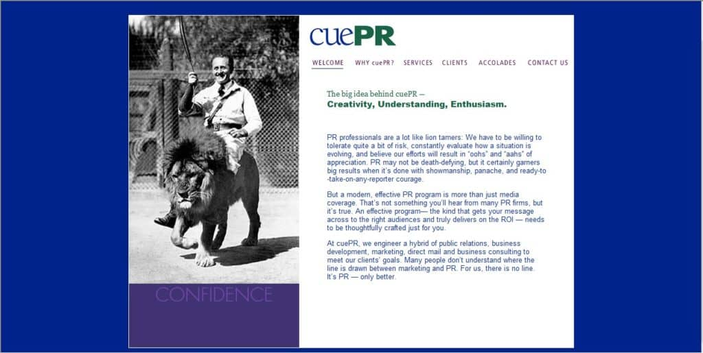 CuePR Website