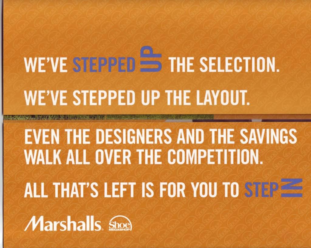 Marshalls Shoe MegaShop Direct Mail